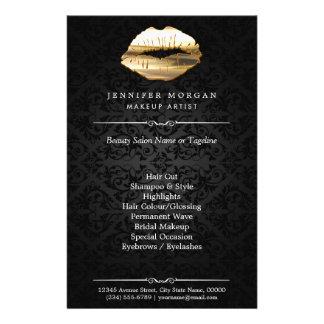 """Salón de belleza del artista de maquillaje de los folleto 5.5"""" x 8.5"""""""