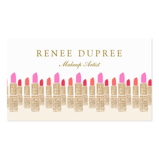 Salón de belleza del artista de maquillaje del tarjetas de visita