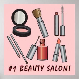 Salón de belleza del número uno póster