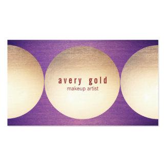 Salón de belleza moderno de madera púrpura del tarjetas de visita