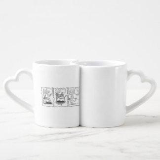 Salón de belleza set de tazas de café