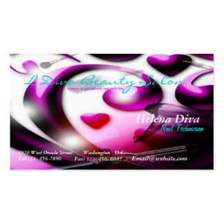 Salón de belleza/tarjeta de visita del balneario d tarjetas de visita