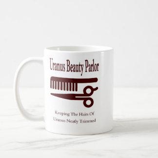 Salón de belleza taza básica blanca