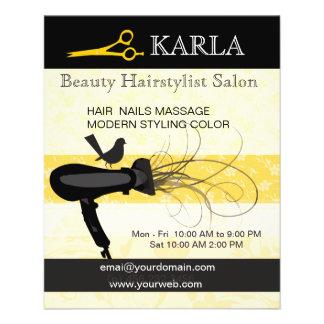 Salón de belleza y Hairstylist del balneario Flyer Personalizado