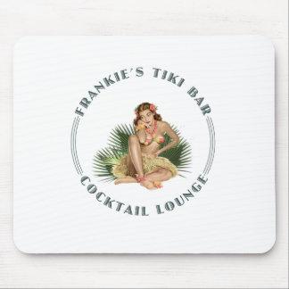 Salón de cóctel del chica de Hula de la barra de T Alfombrilla De Ratones