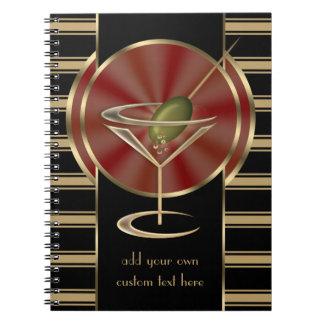 Salón de cóctel cuadernos