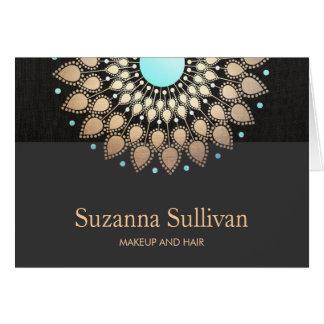 Salón de la cosmetología y logotipo holísticos del tarjeta pequeña