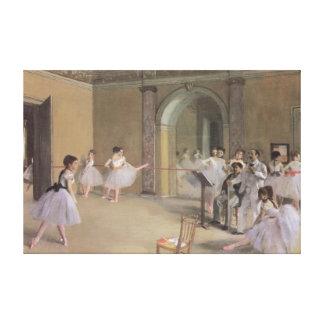 Salón de la danza en la ópera de Edgar Degas Lona Estirada Galerías