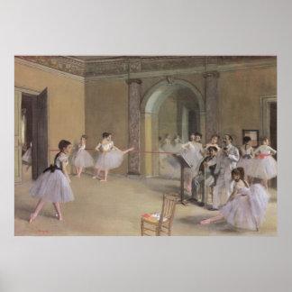 Salón de la danza en la ópera de Edgar Degas Póster