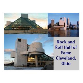Salón de la fama Cleveland Ohio del rock-and-roll Tarjeta Postal