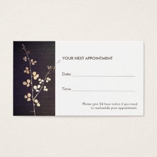 Salón de la rama del oro del zen y tarjeta de la tarjetas de visita