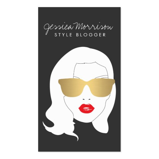 Salón de pelo, Blogger del estilo, chica de la bel Plantilla De Tarjeta De Visita