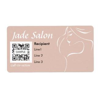 Salón de pelo de la plantilla de la etiqueta de en etiqueta de envío