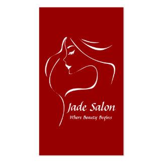 Salón de pelo de la plantilla de la tarjeta de vis tarjetas de visita