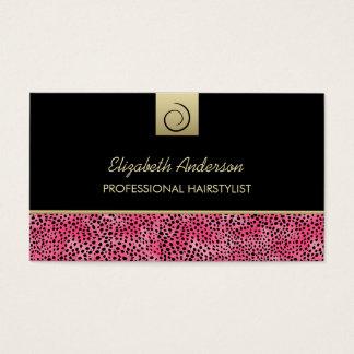 Salón de pelo de lujo de la impresión del guepardo tarjeta de negocios