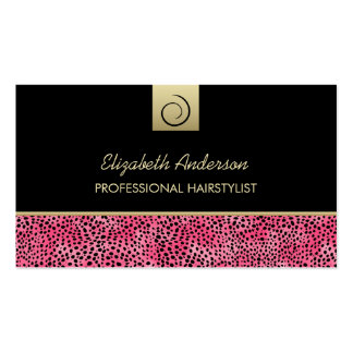 Salón de pelo de lujo de la impresión del guepardo tarjetas de visita