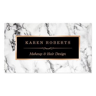 Salón de pelo de mármol blanco de moda del artista tarjetas de visita