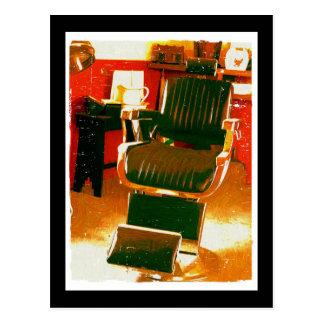 Salón de pelo del vintage postal