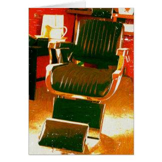 Salón de pelo del vintage tarjeta