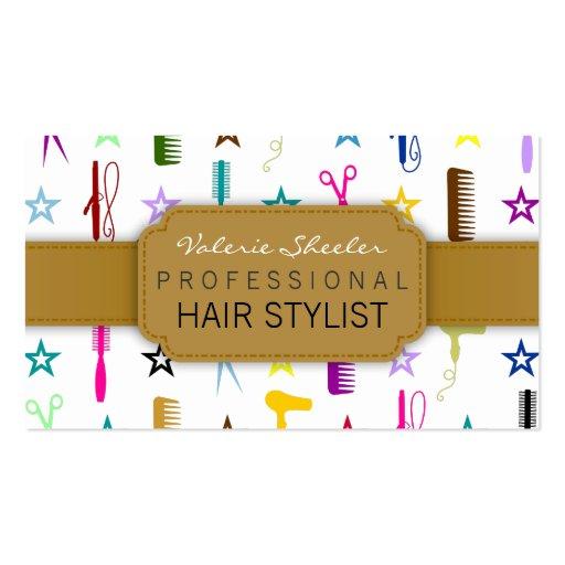 Salón de pelo elegante de las tonalidades o tarjetas de visita