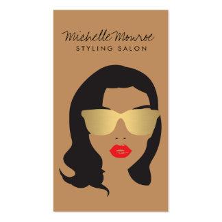 Salón de pelo, estilista, chica de la belleza II Tarjetas De Visita