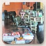 Salón de pelo posavasos de bebida