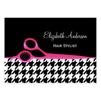 Salón de pelo rosado y negro femenino de Houndstoo Tarjeta De Visita