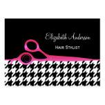 Salón de pelo rosado y negro femenino de tarjetas de visita grandes