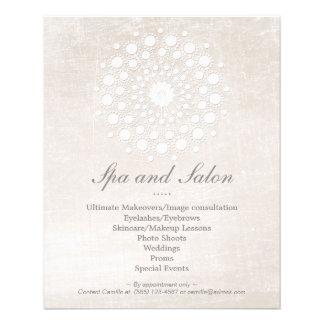 """Salón de pelo y balneario simples y elegantes del folleto 4.5"""" x 5.6"""""""