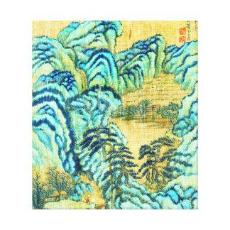 Salón de té chino 1730 impresiones de lienzo