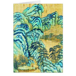 Salón de té chino 1730 tarjeta de felicitación