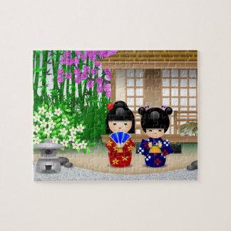Salón de té de Kokeshi Puzzles Con Fotos
