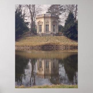 Salón de té del belvedere, Versalles, Francia Poster