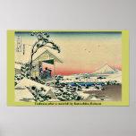 Salón de té, después del nevadas por Katsushika, H Posters