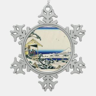 Salón de té en Koishikawa Adorno De Peltre En Forma De Copo De Nieve
