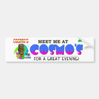 Salón de Tiki de Cosmo: Encuéntreme Pegatina Para Coche