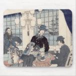 Salón de una casa de comerciantes extranjeros en alfombrillas de raton