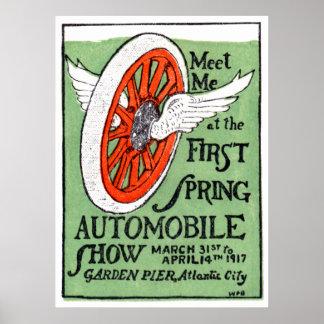 Salón del automóvil 1917 de la primavera de New Je Póster