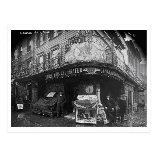 Salón del café de Roeber, vintage de New York City Postales
