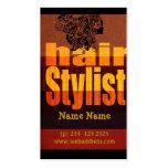 Salón del Hairstylist de la tipografía Tarjeta De Visita