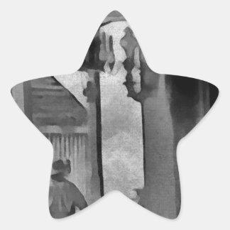Salón del oeste viejo pegatina en forma de estrella