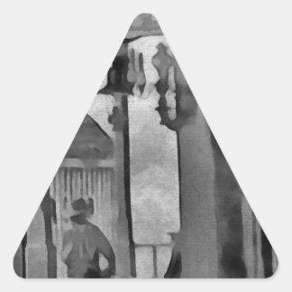 Salón del oeste viejo pegatina triangular