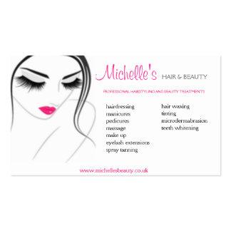 Salón del pelo y de belleza, diseño de la tarjeta tarjetas de visita