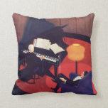 Salón del pianista del pianista de la música del almohadas