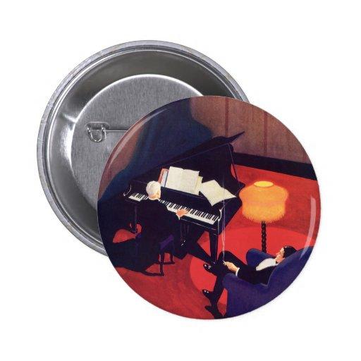 Salón del pianista del pianista de la música del chapa redonda 5 cm