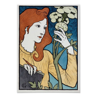 Salon des Cent, 1894 Art Nouveau by Eugene Grasset Poster