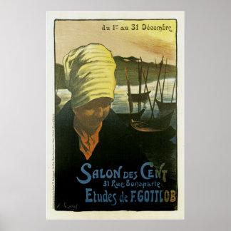 Salon Des Cent ~ Etudes de F. Gottlob Poster