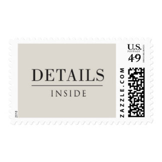 Salon - Details Inside, Black and Light Gray Postage