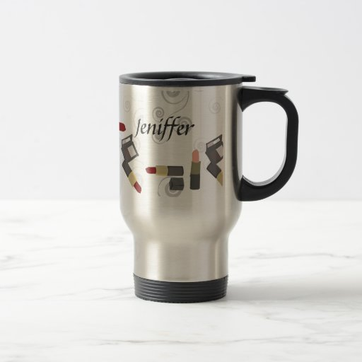 Salón elegante de la moda de la belleza taza de café