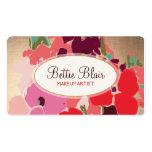 Salón elegante floral del artista de maquillaje de plantillas de tarjeta de negocio